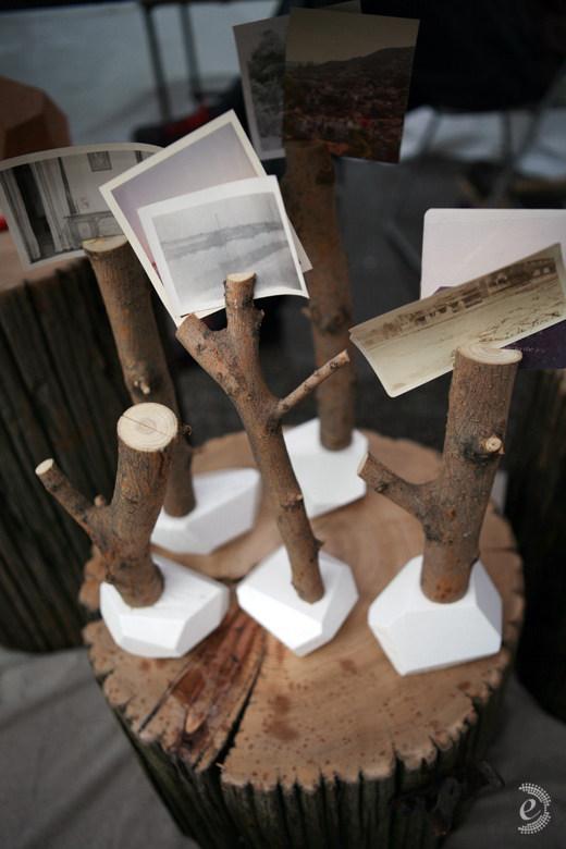 Troncos como centros de mesa for Mesas de troncos de arboles