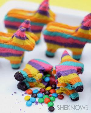 galletas piñata rellenas de caramelos