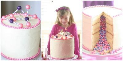 torta piñata rellena de caramelos