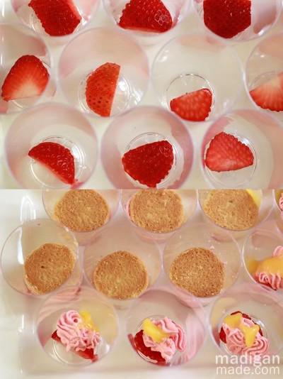 postres en capas servidos en vasos y frascos de cristal ananda taller dulce cali