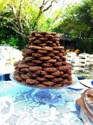 torta de galletas apiladas