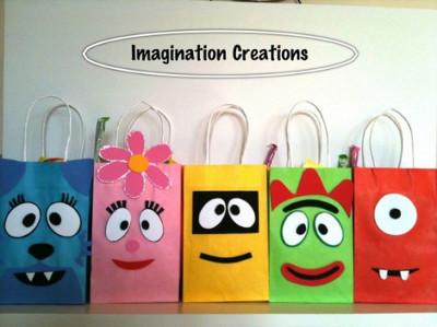 Personaliza las bolsas de papel para tu fiesta - Como hacer bolsas de regalo ...