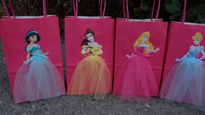 Personaliza las bolsas de papel para tu fiesta - Fiestas infantiles princesas disney ...