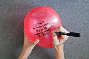invitaciones con globos de latex Mercadolibre