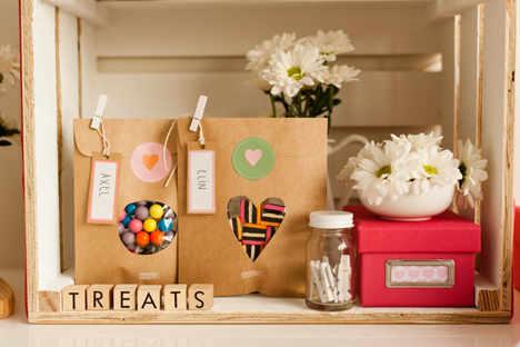 Souvenirs con bolsas de papel kraft - Como decorar bolsas de papel ...