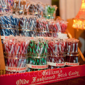 Old Fashioned Candy Stick Display