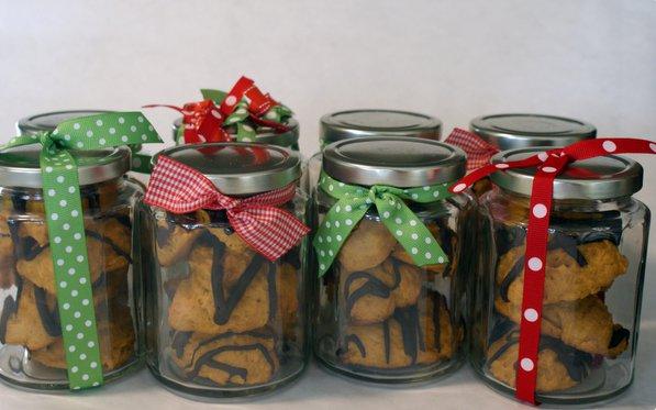 Regala galletas artesanales en frascos for Frascos decorados para navidad